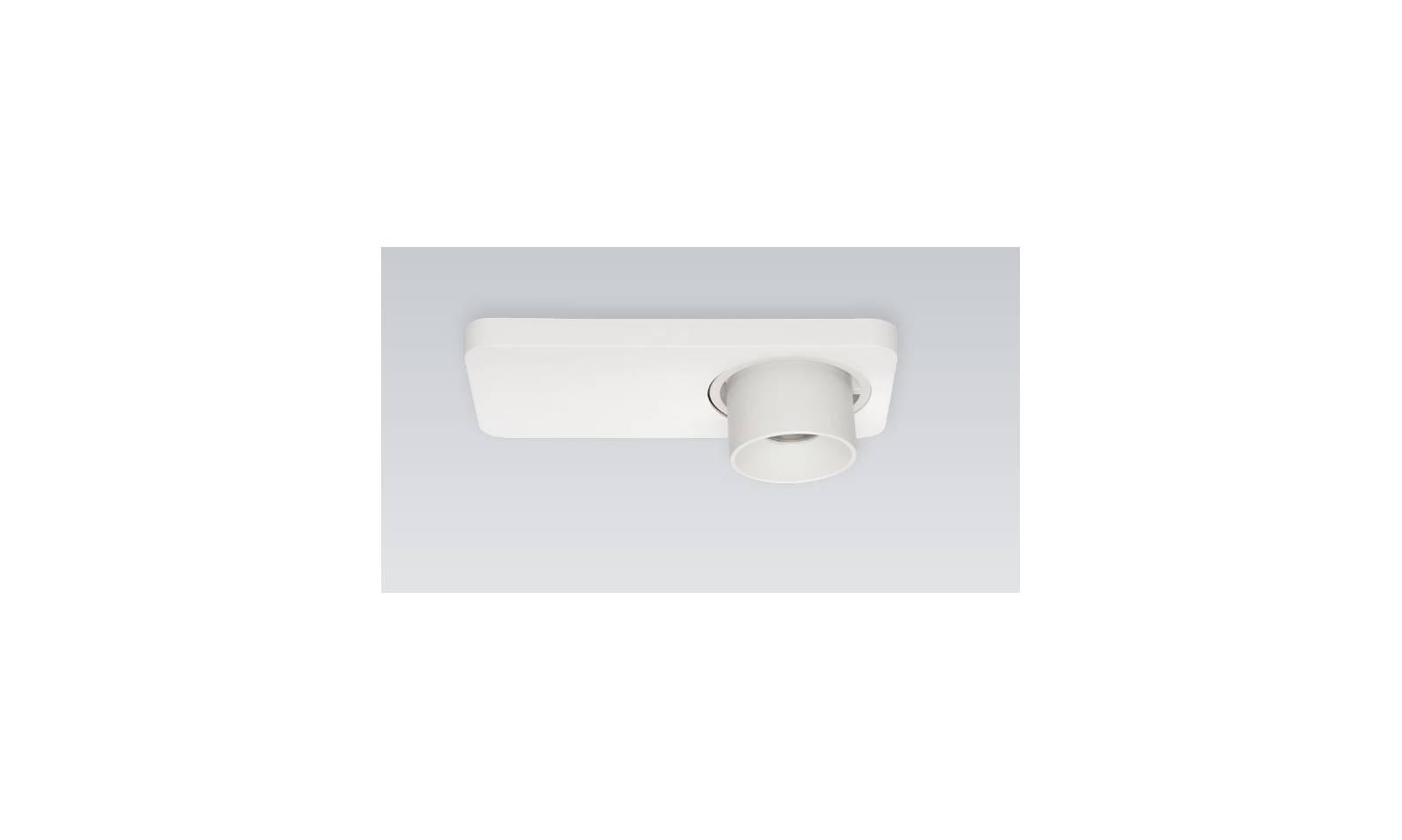 Faretto da parete o soffitto linea light in alluminio serie beebo