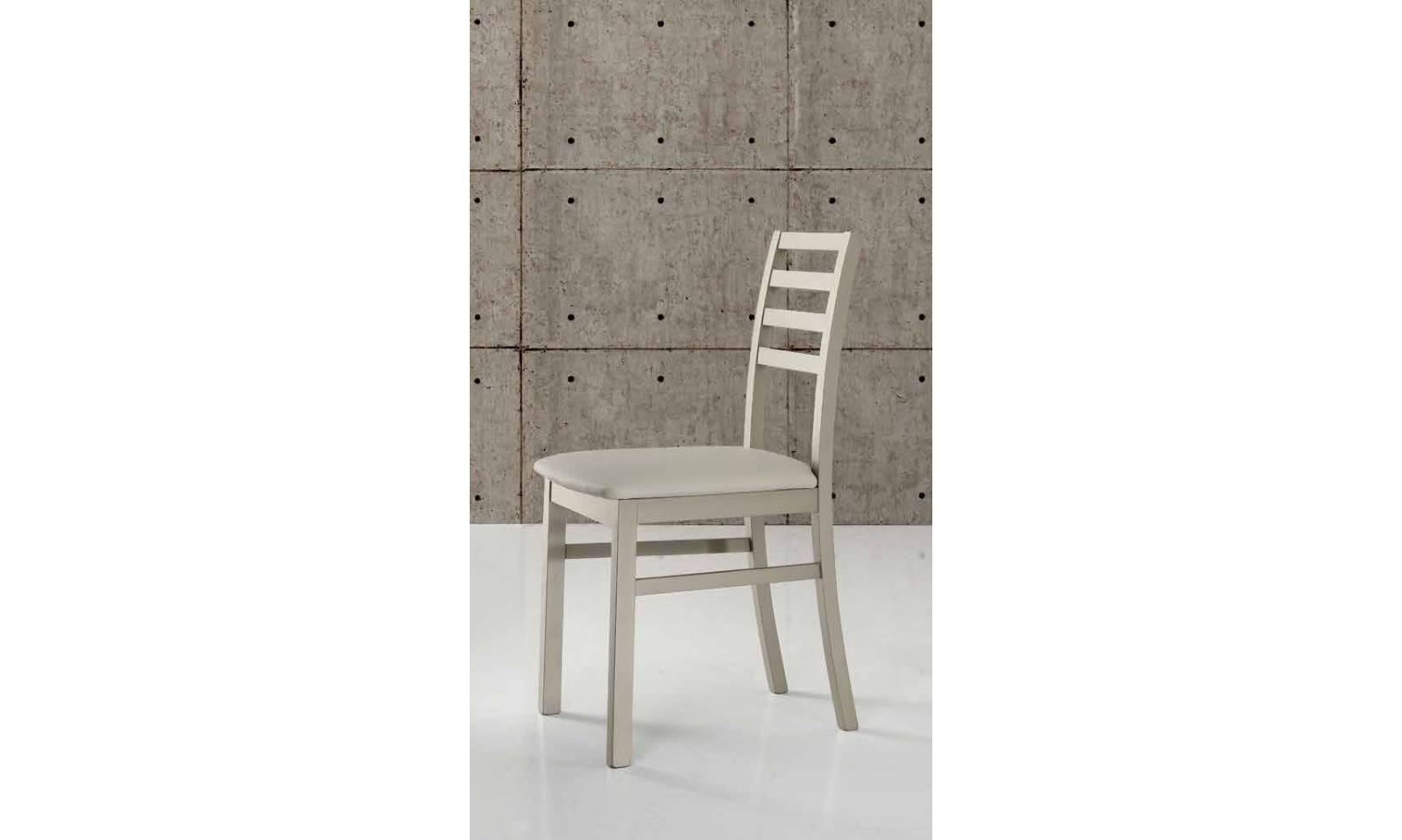Sedia moderna tropea con seduta in ecopelle beige altezza 88cm - Ciciriello mobili da bagno ...