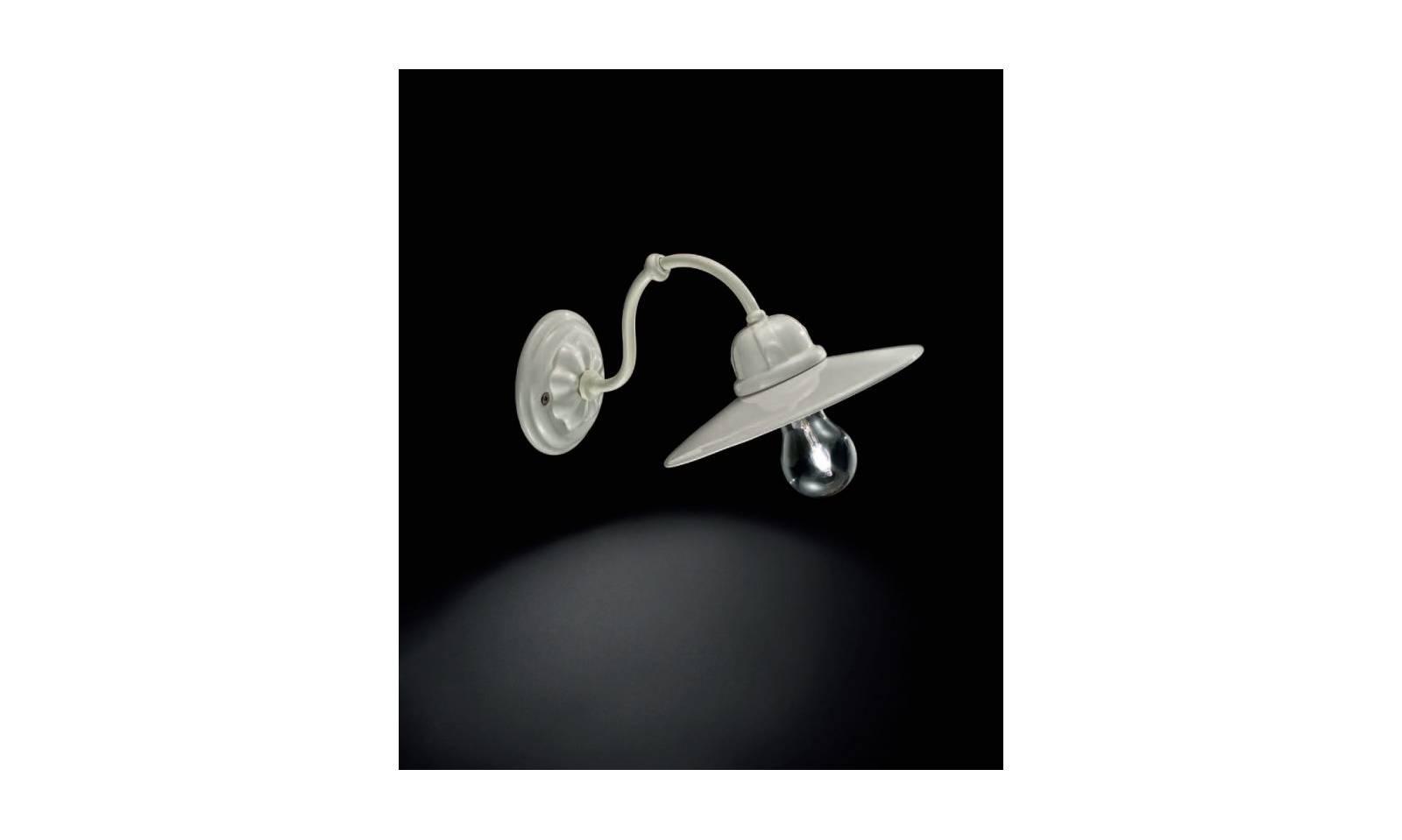 Ferroluce retro c wall lamp in metal sheet