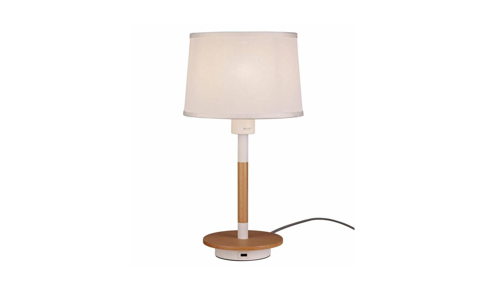 Mantra illuminazione lampada da tavolo nordica 2 usb moderna - Lampade moderne da tavolo ...