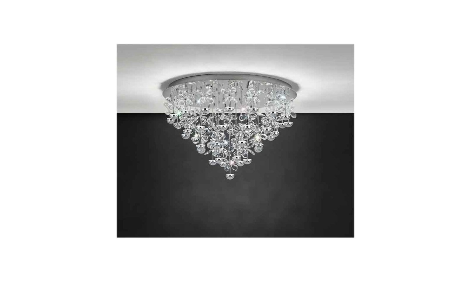 Eglo Plafoniere Led : Eglo pianopoli led ceiling lamp in inox steel and crystal diffuser