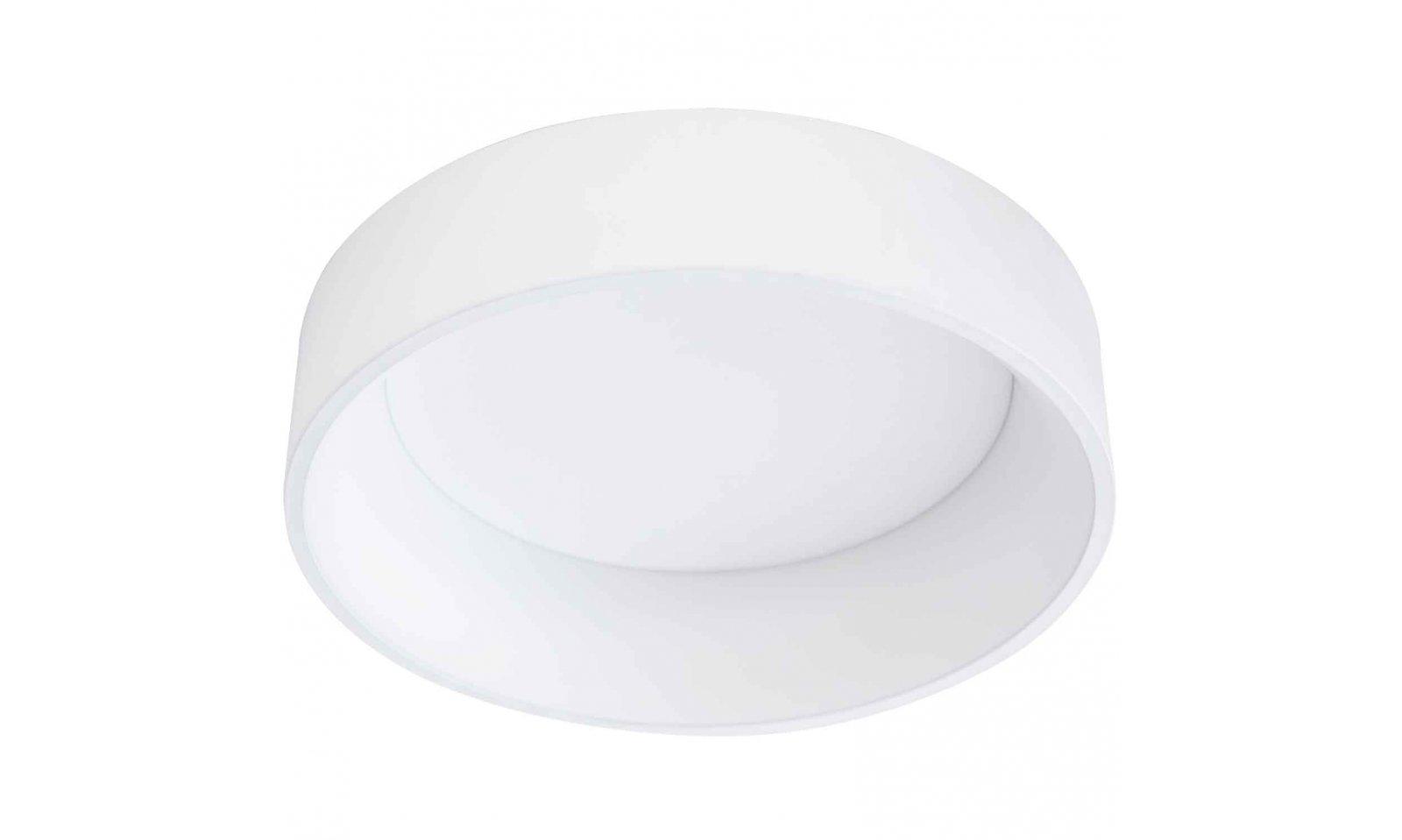 Eglo Plafoniera Led : Eglo marghera 1 led plafoniera in acciaio e plastica colore bianco