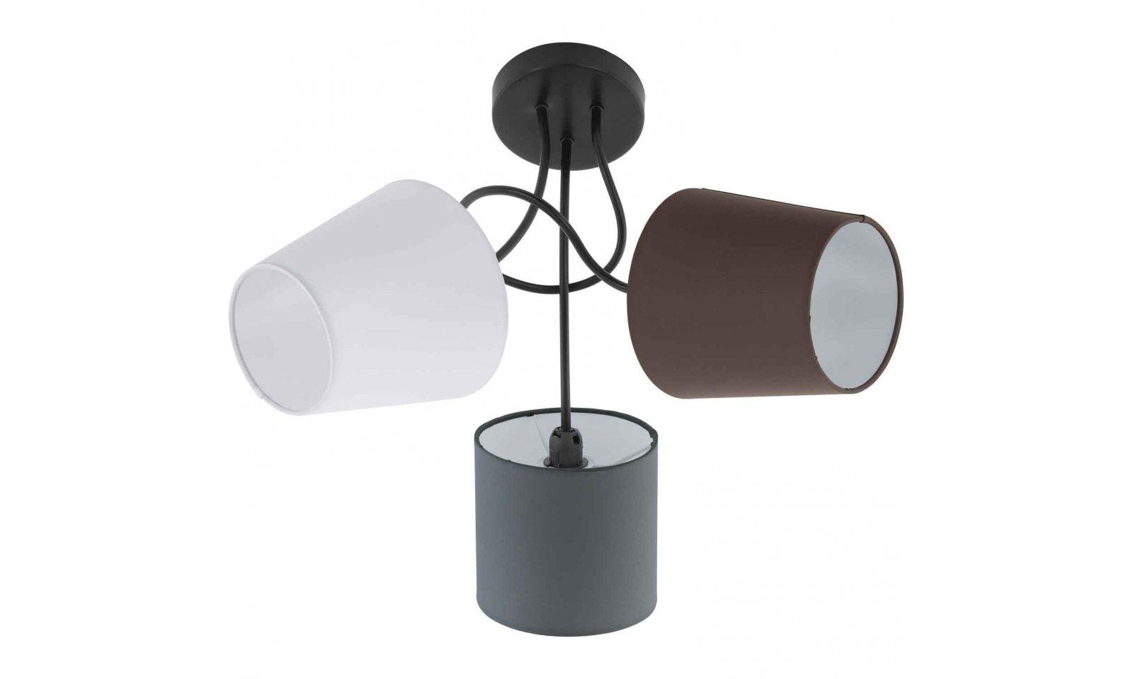 Plafoniere Moderne In Tessuto : Eglo almeida plafoniera moderna in acciaio nero e tessuto colorato