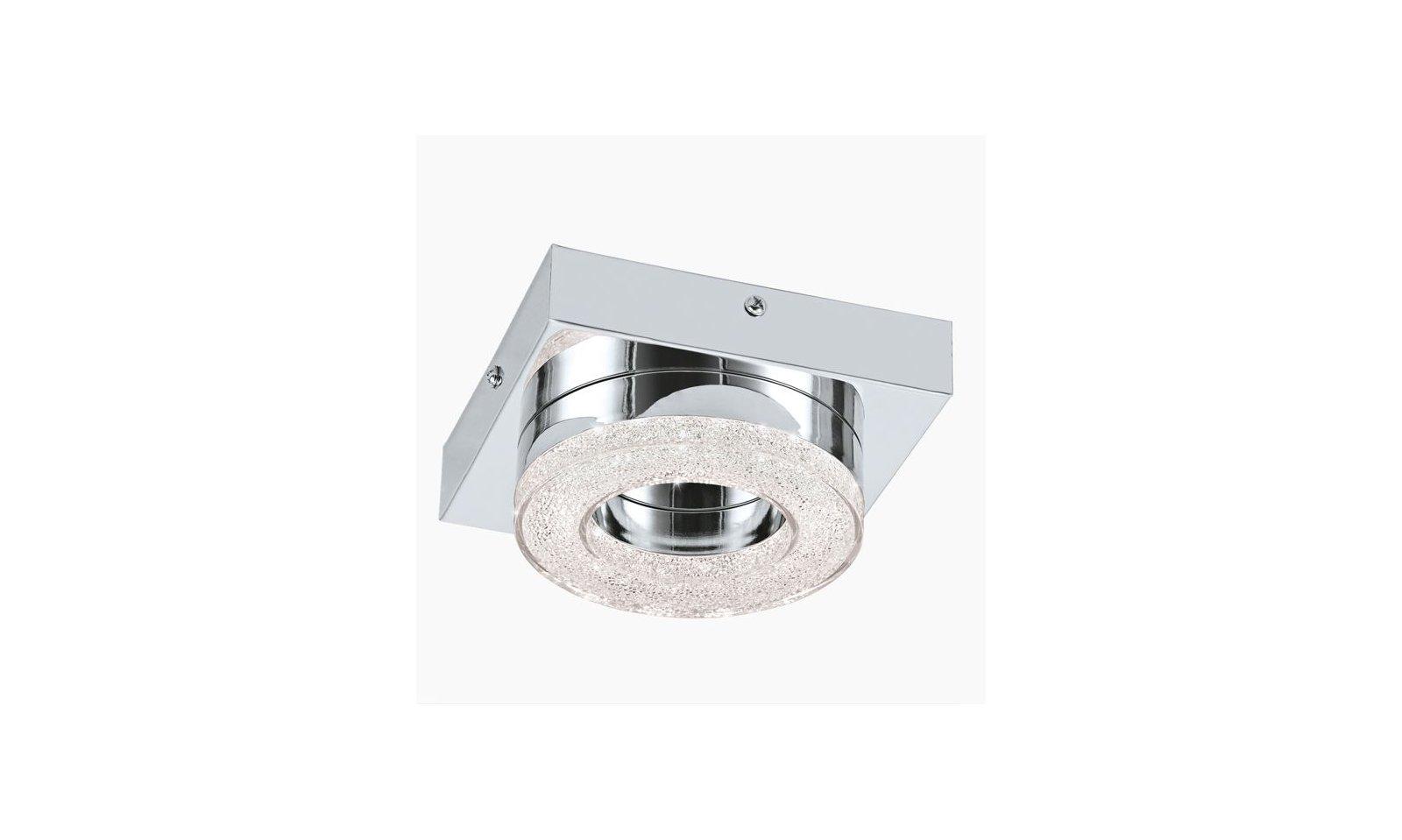 Eglo Plafoniera Led : Eglo fradelo plafoniera o applique led circolare in acciaio e plastica