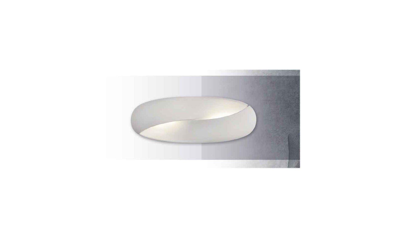 Acb norma applique led in metallo e metacrilato bianco lampada moderna