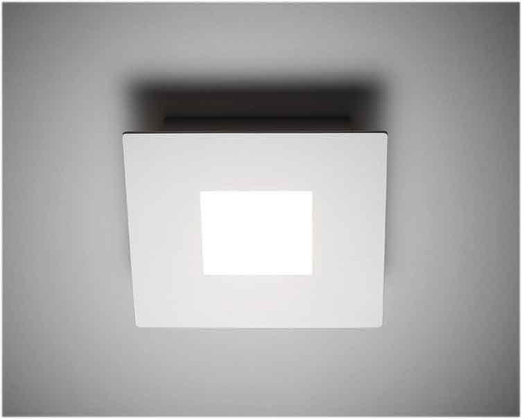 Plafoniere Aled : Vivida squares plafoniera led di design moderno in metallo ed acrilico