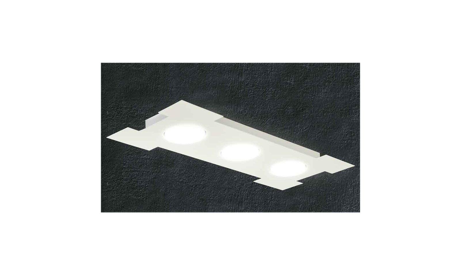 Plafoniera Rettangolare Cristallo : Promoingross atene rettangolare led plafoniera in metallo bianco