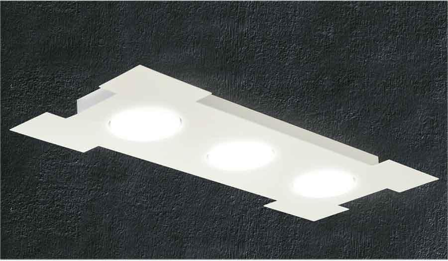 Plafoniera Rettangolare Led : Promoingross atene rettangolare led plafoniera in metallo bianco