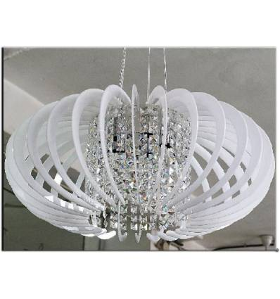 Lampadario in plexiglass per cameretta colorato bianco con for Amazon lampadari