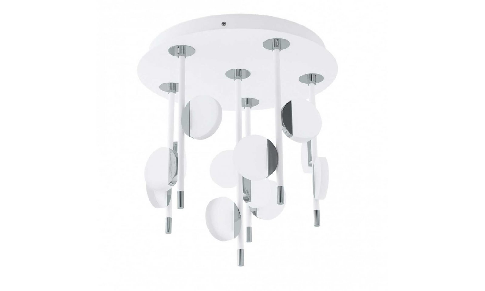 Eglo Plafoniere Led : Eglo olindra led modern ceiling lamp in metal and satin plastic
