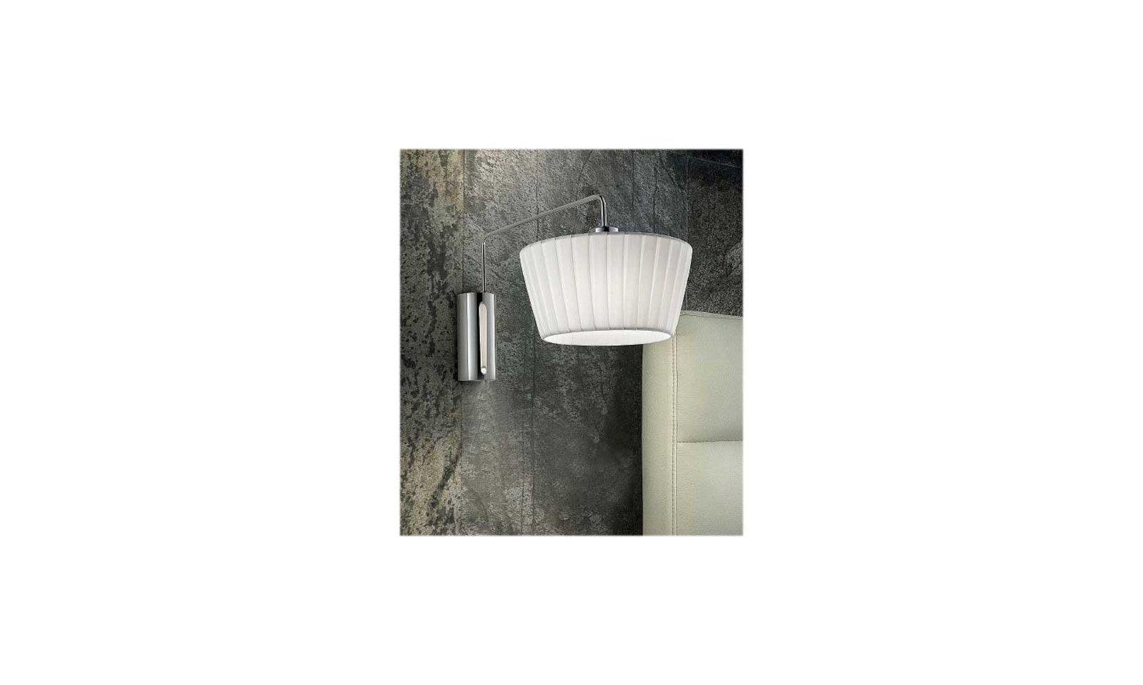 Sil lux cannes lampada da parete contemporanea in acciaio e tessuto
