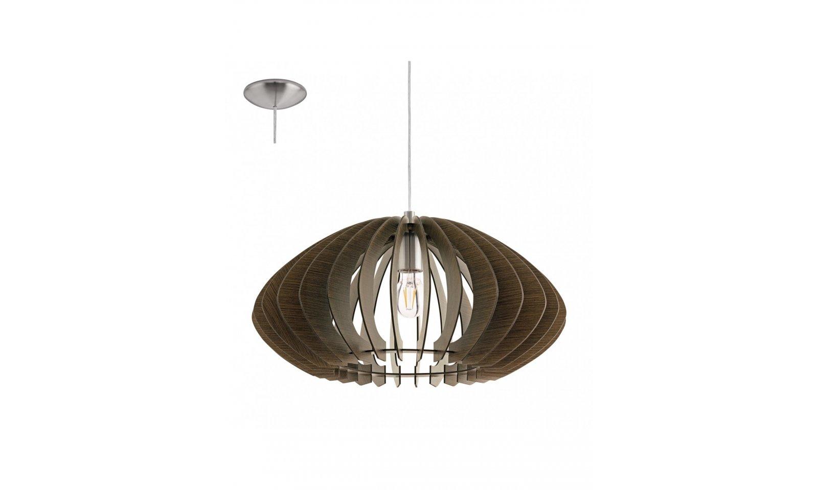 Lampadario Rustico Sospensione : Eglo cossano lampada a sospensione in legno lampadario rustico