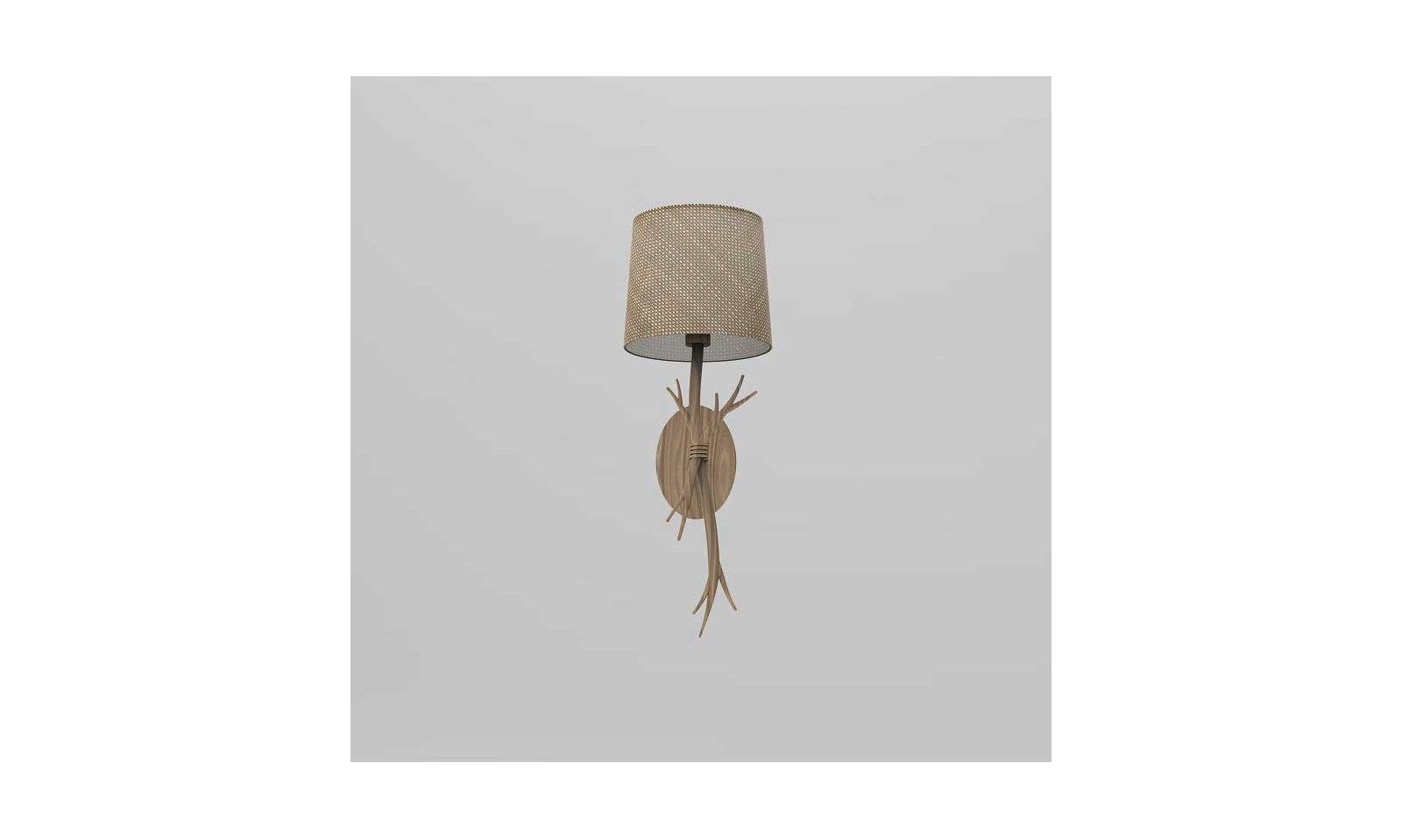Mantra wandleuchte sabina rusty lampe aus holz und seil