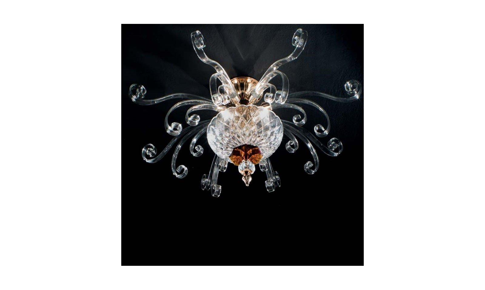 Plafoniere Vetro Soffiato : Ciciriello plafoniera astrid 4 luci arteluce