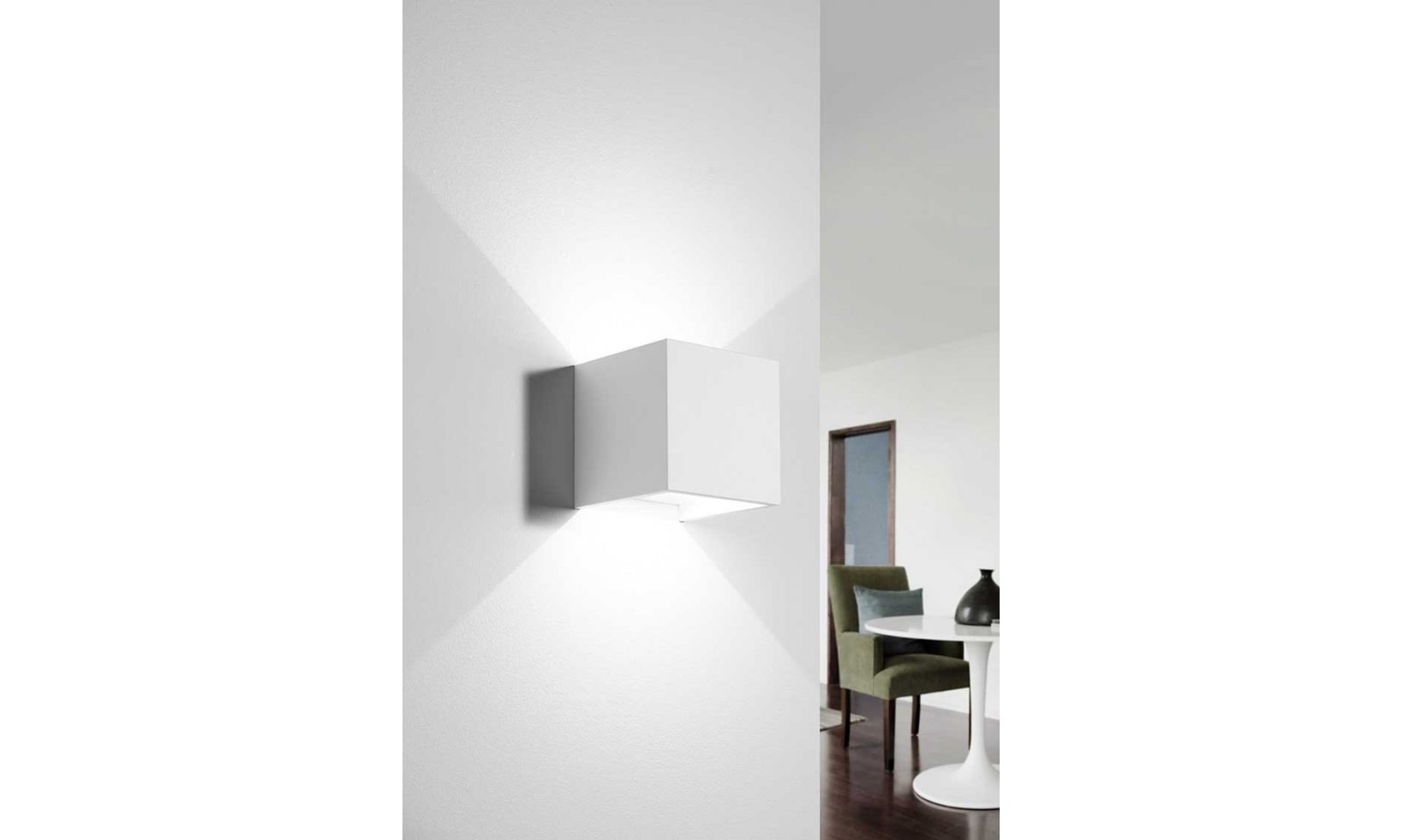 Dforzin lighting led wall lamp in plaster kos model