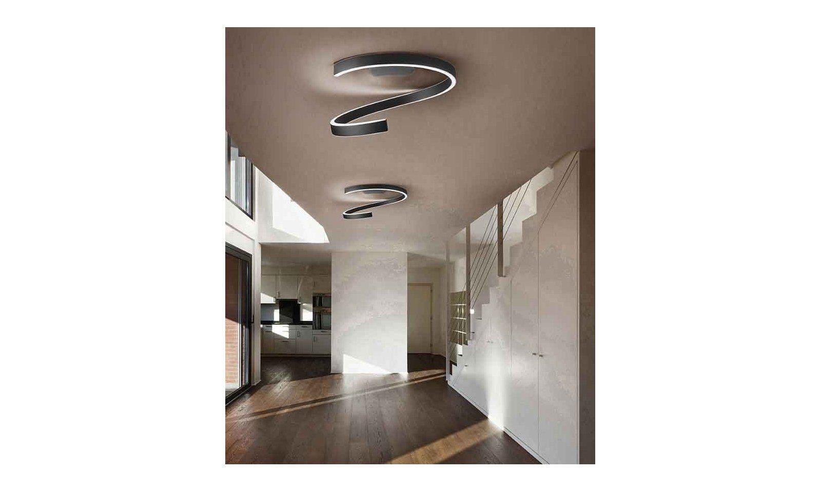 Plafoniere Classiche In Vetro Di Murano : Braga illuminazione plafoniera spira led pl lampada da soffitto