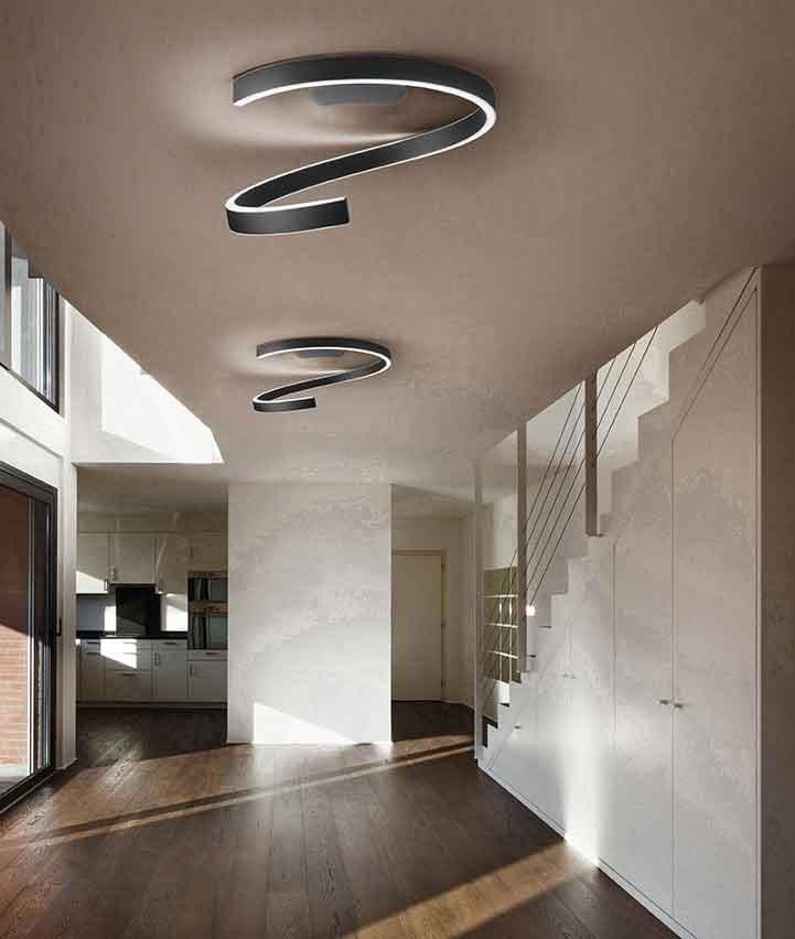 Braga Lighting Led Ceiling Lamp Spira Pl75 Led Ceiling Lamp