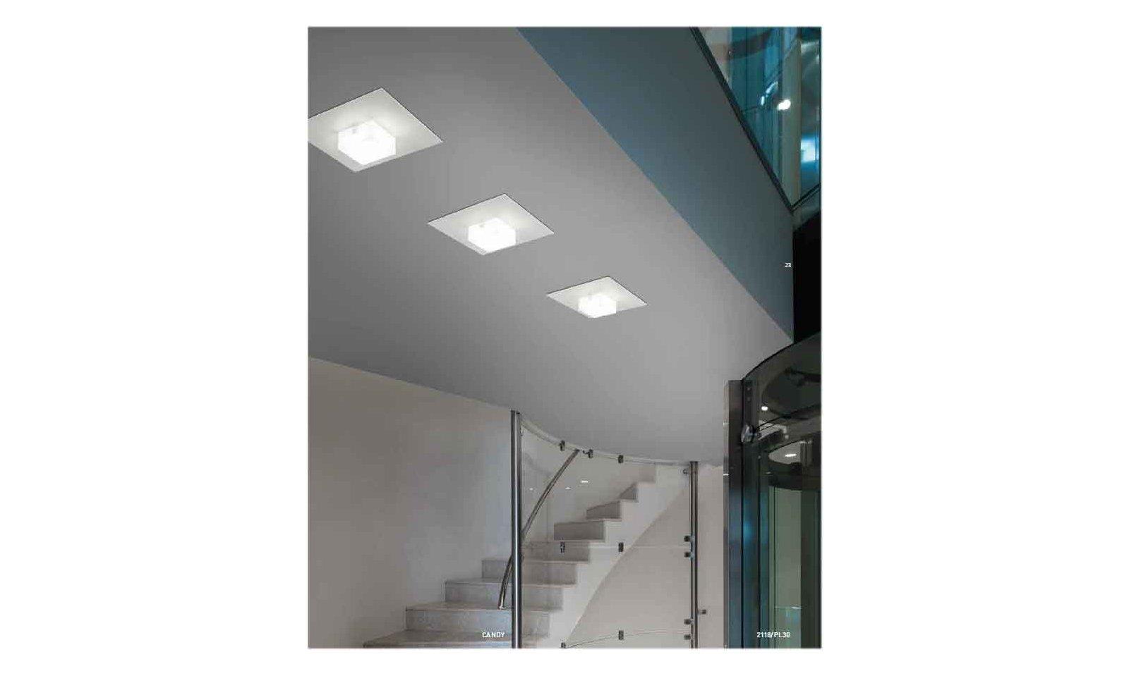 Plafoniere Con Led Integrato : Braga illuminazione plafoniera candy led pl 55 lampada da soffitto