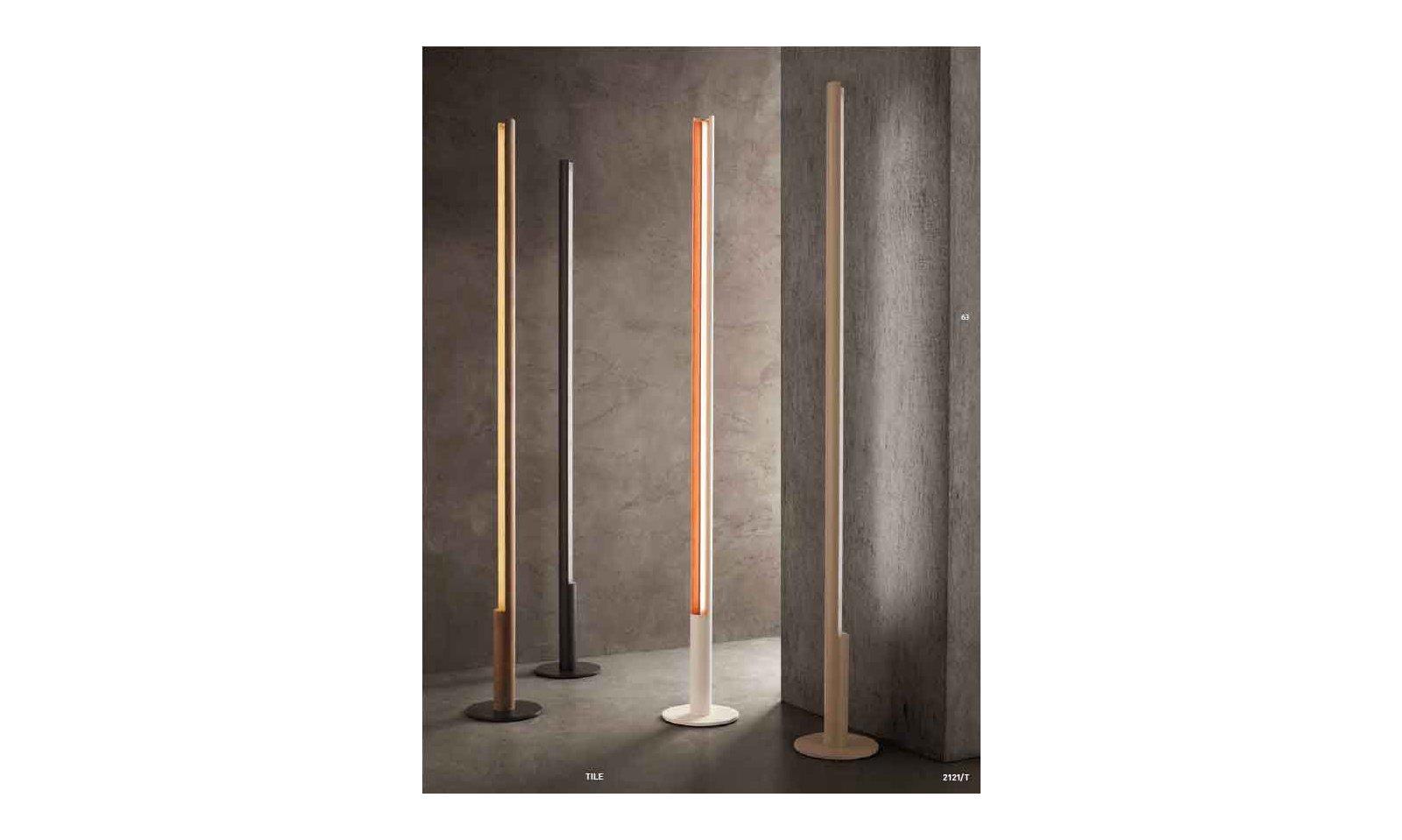 Braga illuminazione piantana tile led lampada da terra led
