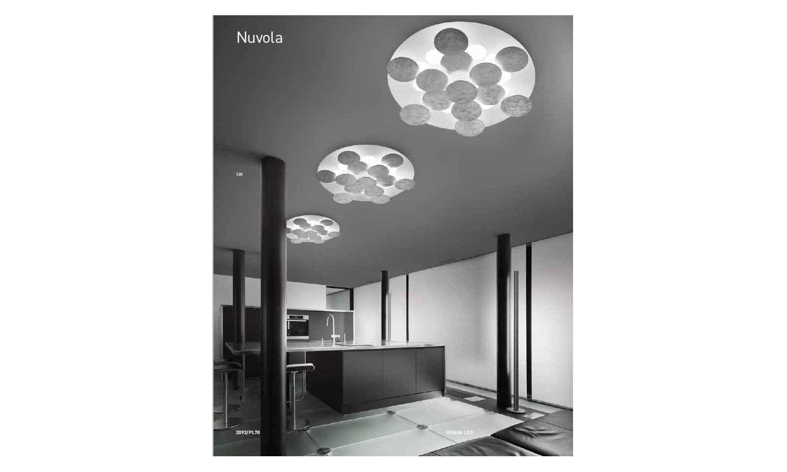 Plafoniere Rustiche Soffitto : Braga illuminazione plafoniera nuvola led pl lampada da soffitto