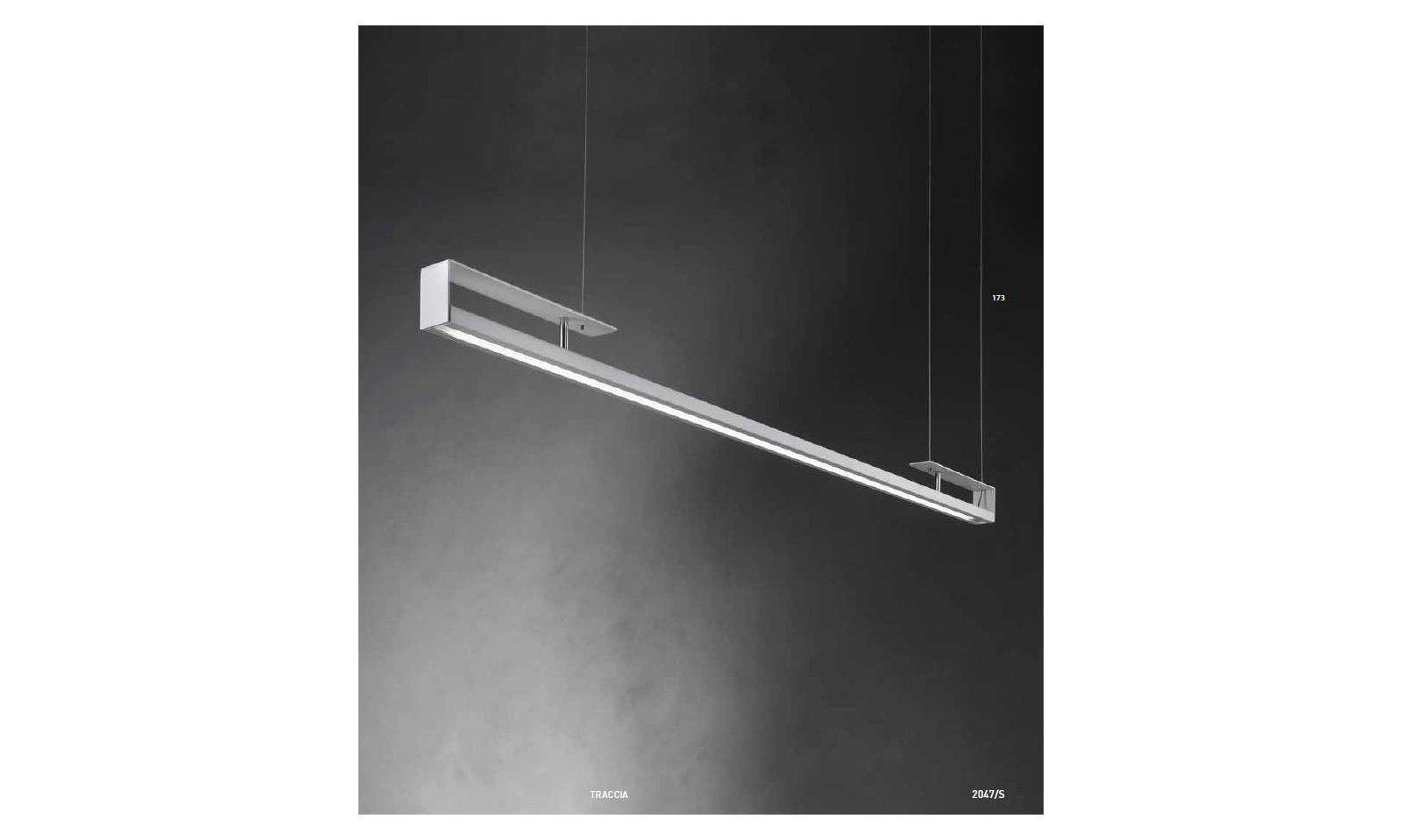 Braga illuminazione lampada a sospensione traccia led arteluce