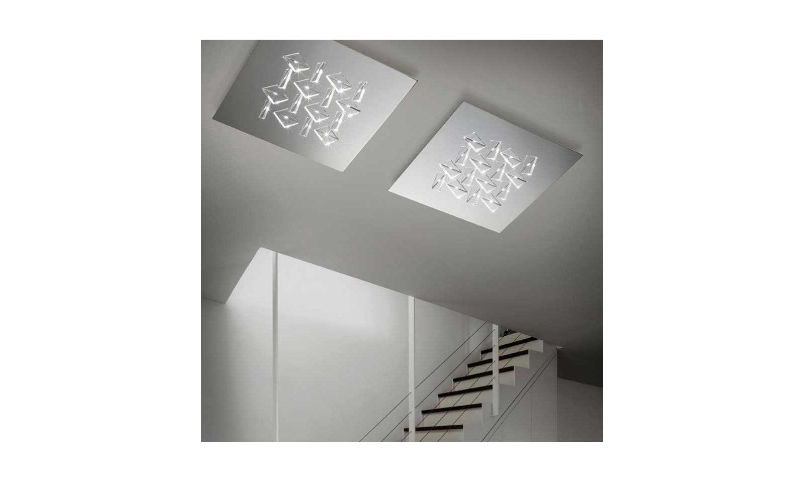 Plafoniera Cristallo Swarovski : Braga illuminazione plafoniera cristalli pl lampada da soffitto