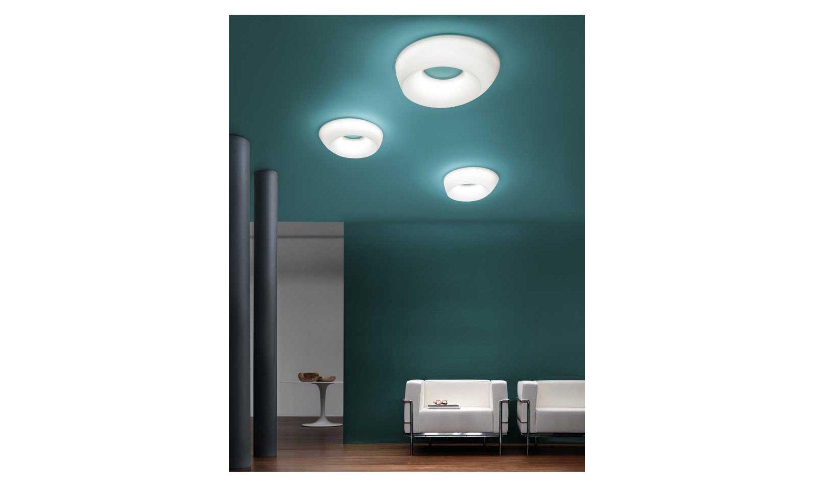 Plafoniere Rotonde Led : Ma de plafoniera applique oblix led lampada da soffitto o parete