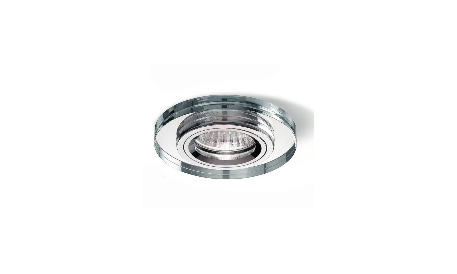 Faretto da incasso led in metallo cromo lucido e vetro - Faretti incasso ikea ...