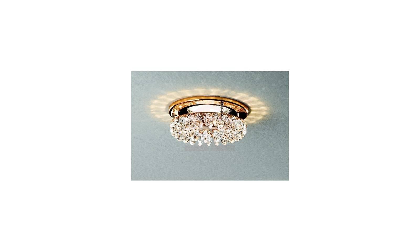 Faretto da incasso classico led con struttura oro lucido e for Ventilatori da soffitto bricoman