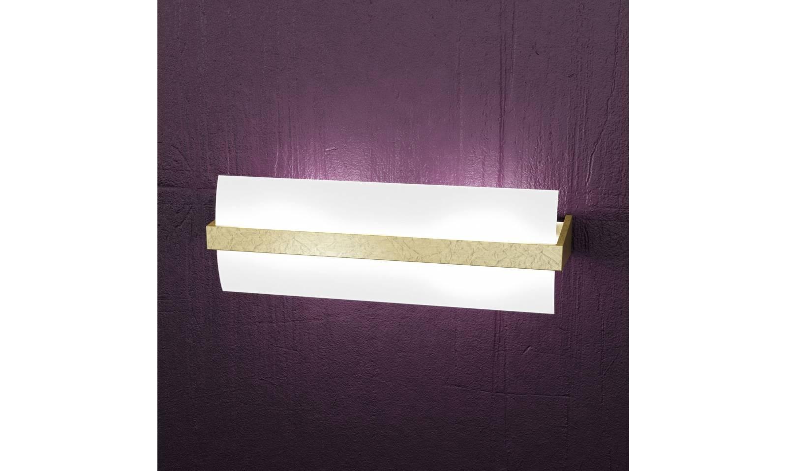 Applique wood metallo cromato e legno per ambiente moderno luci