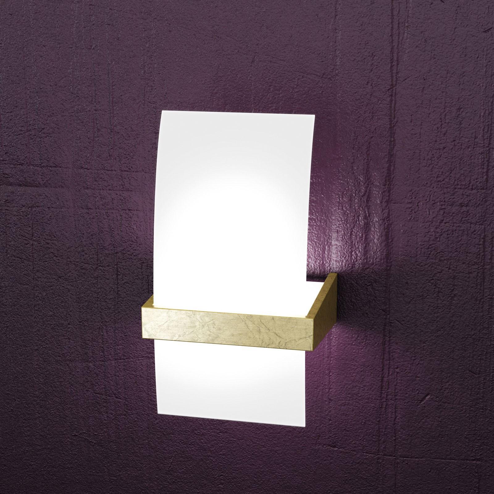 Applique wood metallo cromato e legno con vetro satinato chiaro 1 luce