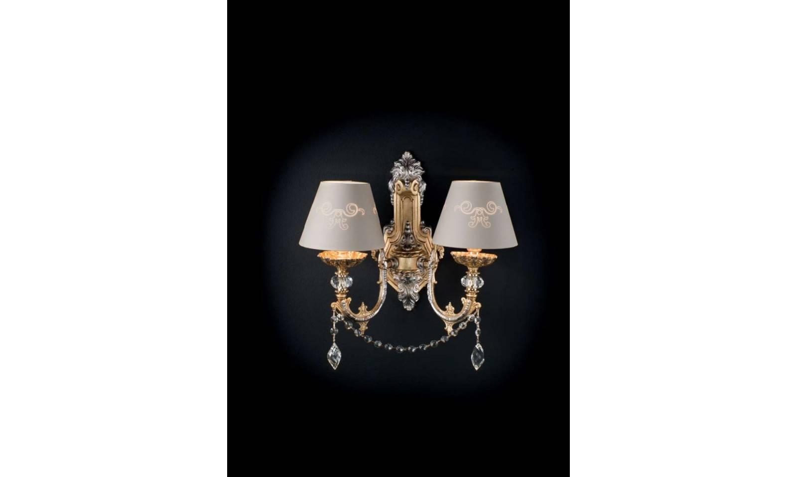 Applique serie dominique luci in ottone oro francese e argento