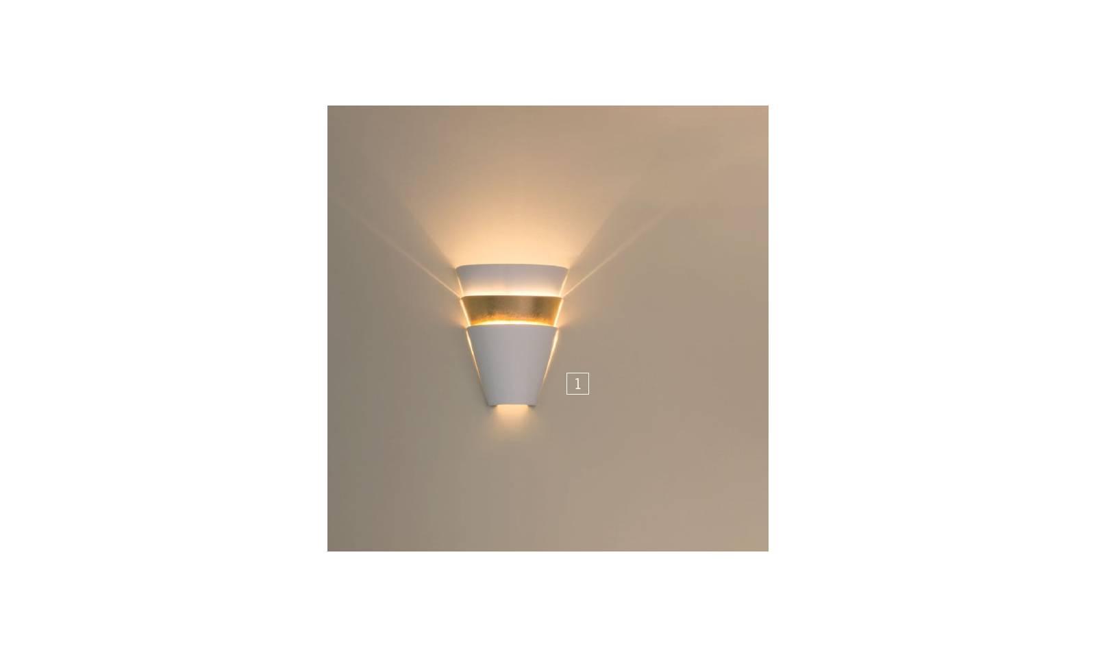Platinlux applique serie vanessa luce in metallo bianco oro
