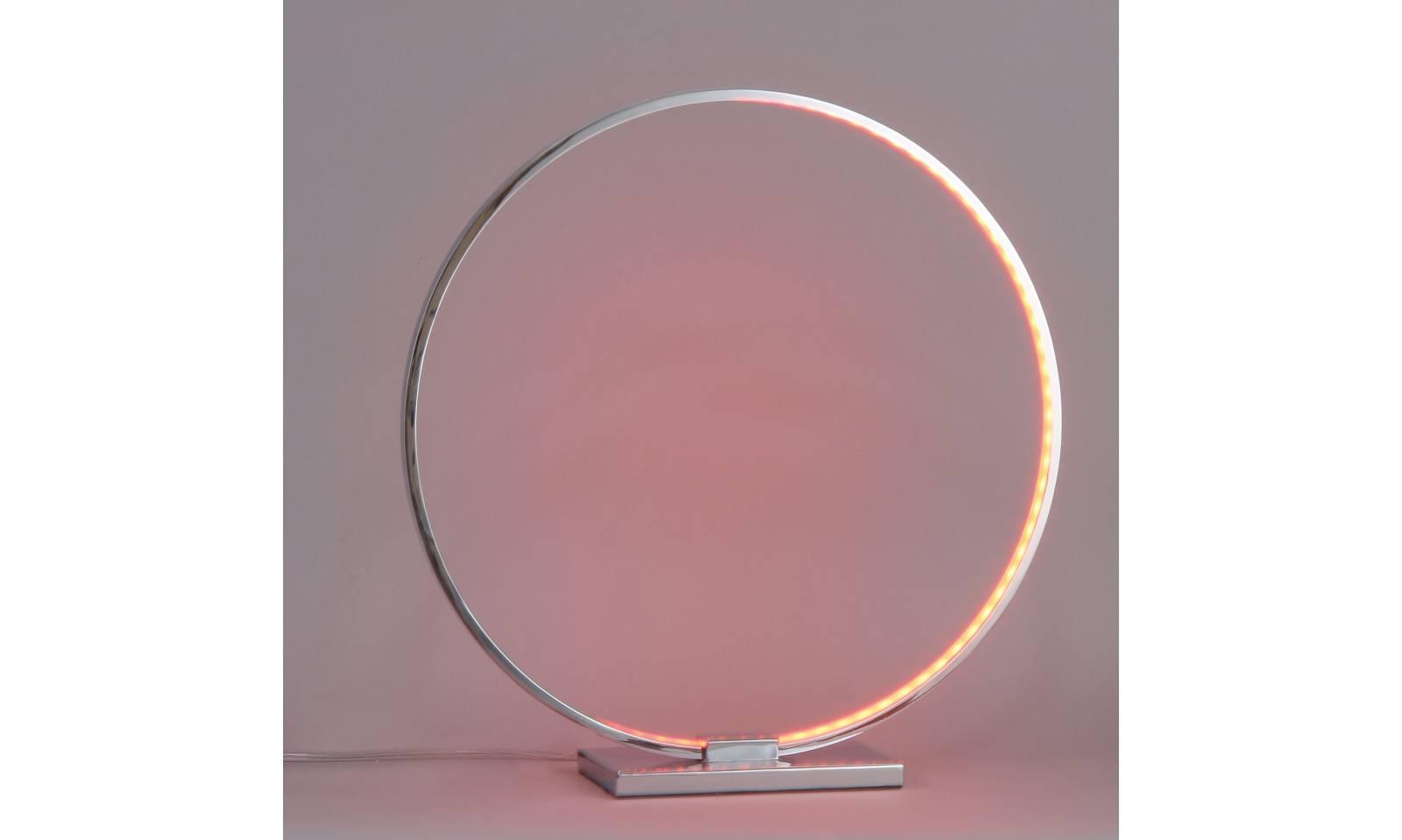 Platinlux Led Tischlampe Rgb Serie Ring Aus Verchromter Struktur