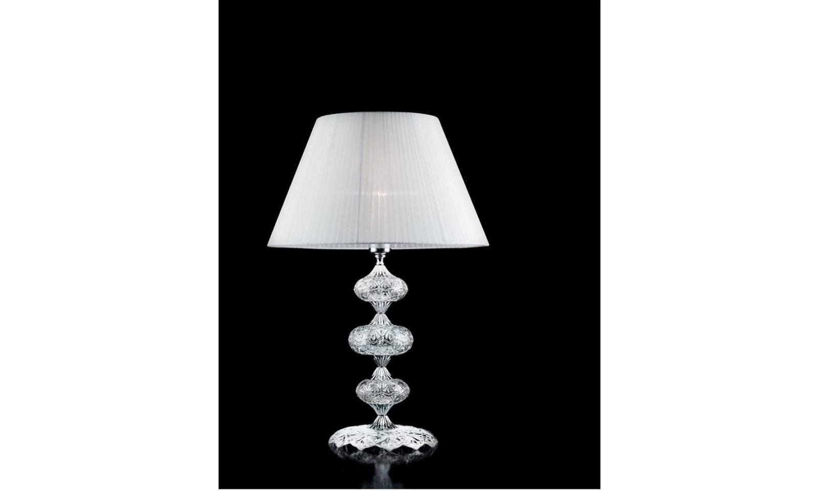Ciciriello lumetto da tavolo dallas cristallo e vetro 1 luce for Luce da tavolo