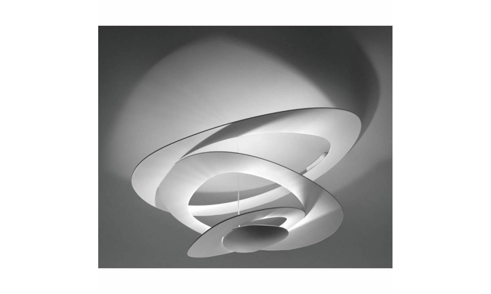 Artemide lampada da soffitto serie pirce led in alluminio verniciato for Lampada bagno soffitto