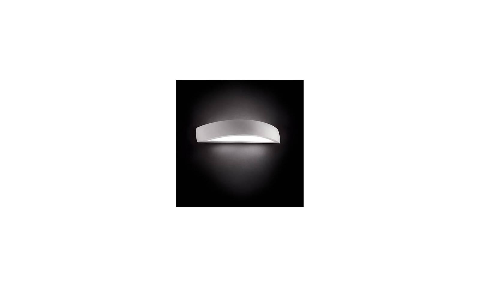 Ideal lux applique da parete in gesso bianco serie soda