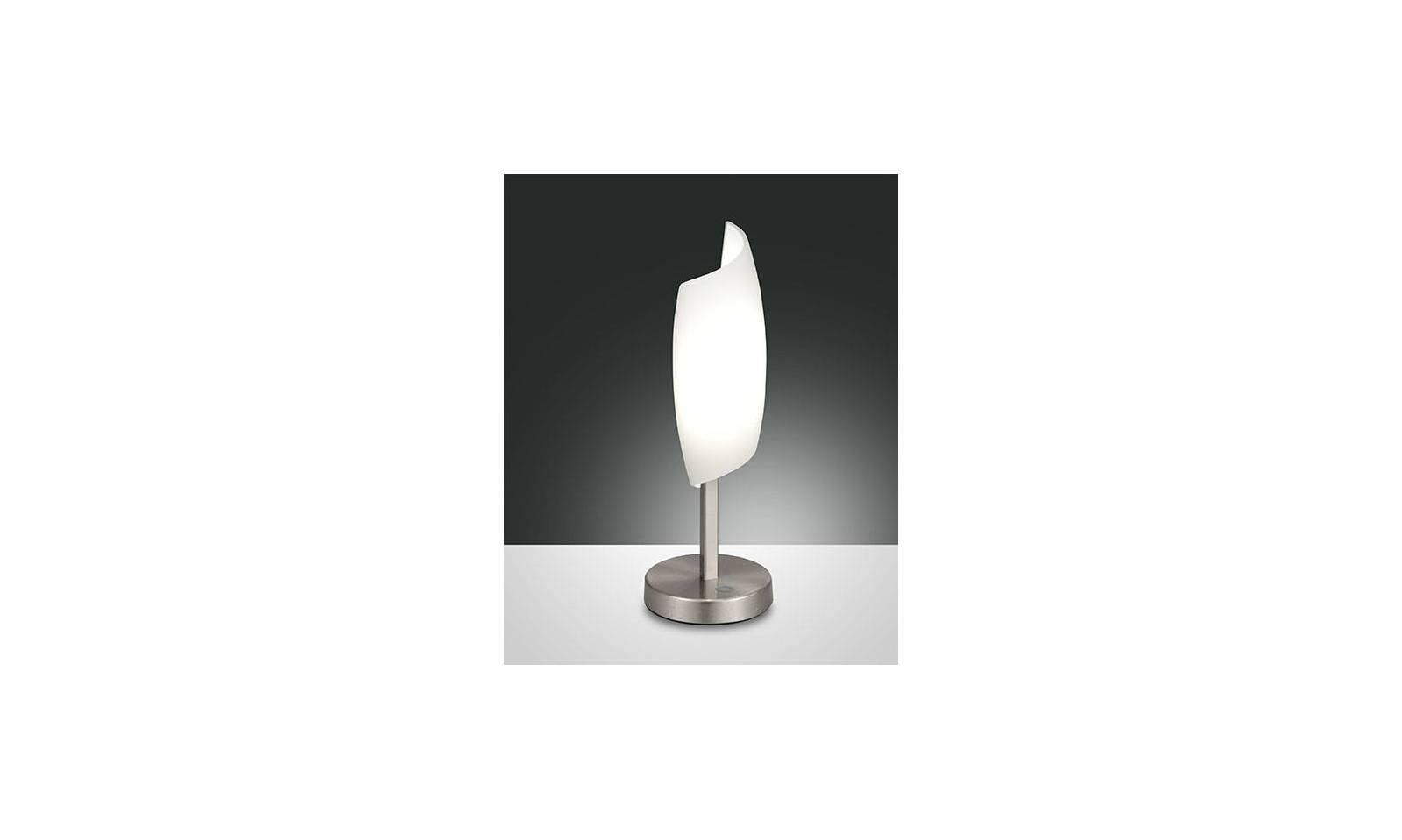 Fabas luce lampada da tavolo serie roxie led in metallo e for Lampada da tavolo a led