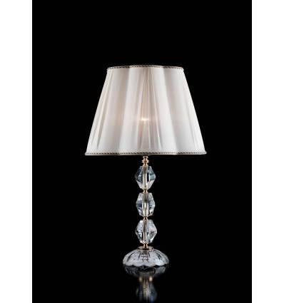 Lumetto da tavolo cristallo e vetro 1 luce con finiture in oro - Lampade da tavolo classiche ...