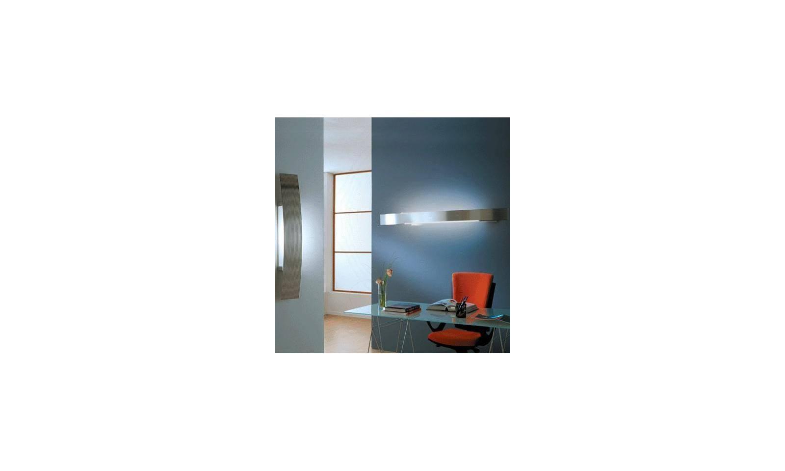 Plafoniere Rustiche A Parete : Selene illuminazione lampada da parete serie bridge led in acciaio