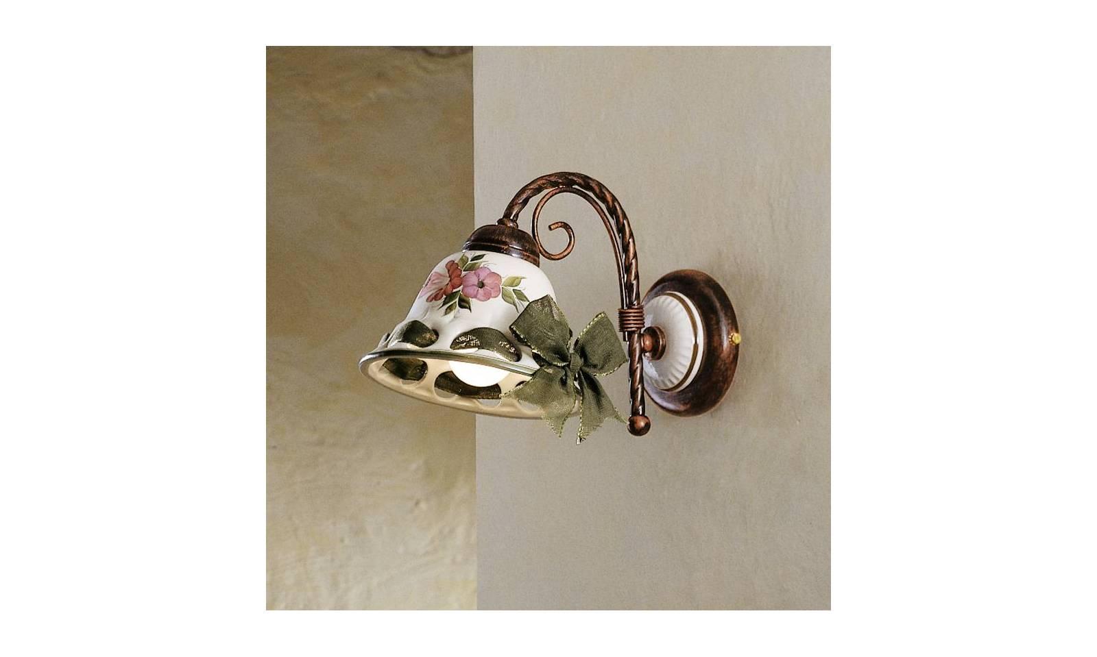 Ferroluce applique rustico in ceramica serie napoli Ø cm