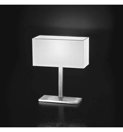 Perenz lampada da tavolo moderna in cromo spazzolato serie 5884 - Lampada moderna da tavolo ...