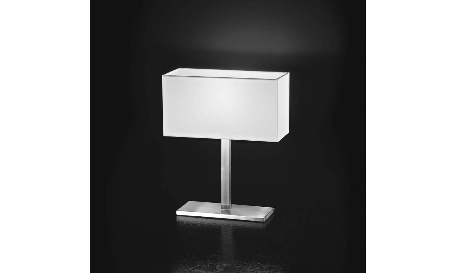 Perenz lampada da tavolo moderna in cromo spazzolato serie 5884 - Lampada da tavolo moderna ...