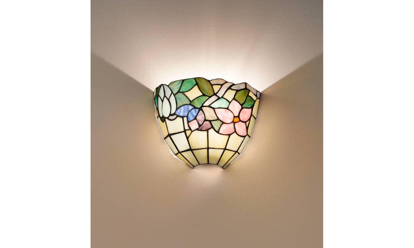 Perenz tiffany glass wall lamp t a