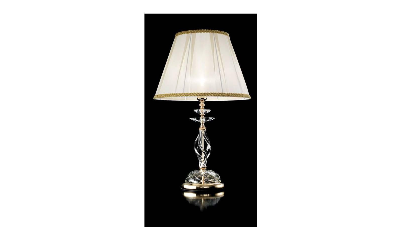 Lumetto da tavolo vetro soffiato artigianale con finiture for Lampada da tavolo grande