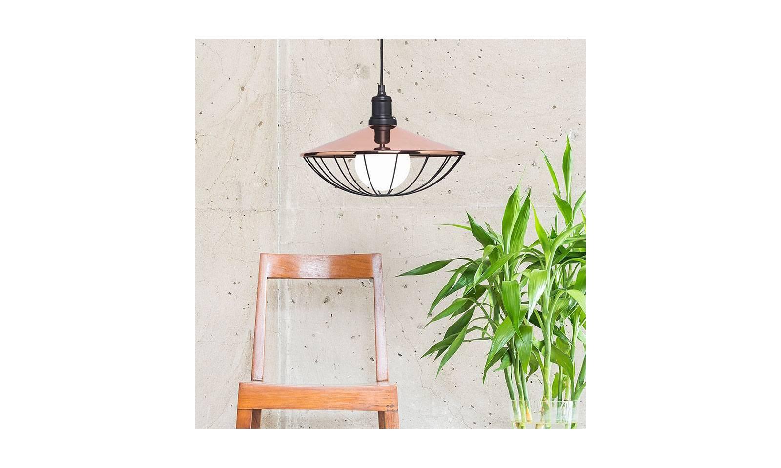 Lampade Rustiche In Rame : Sforzin sospensione rustica in ferro serie mikado Ø 36 cm