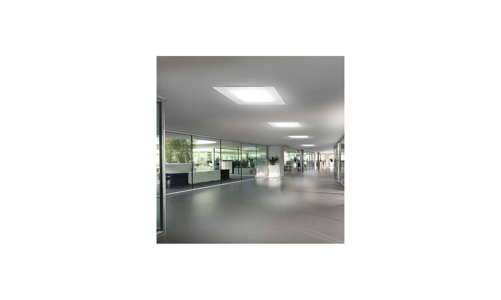Plafoniera A Led Quadrata : Linea light plafoniera moderna led in metallo serie dublight