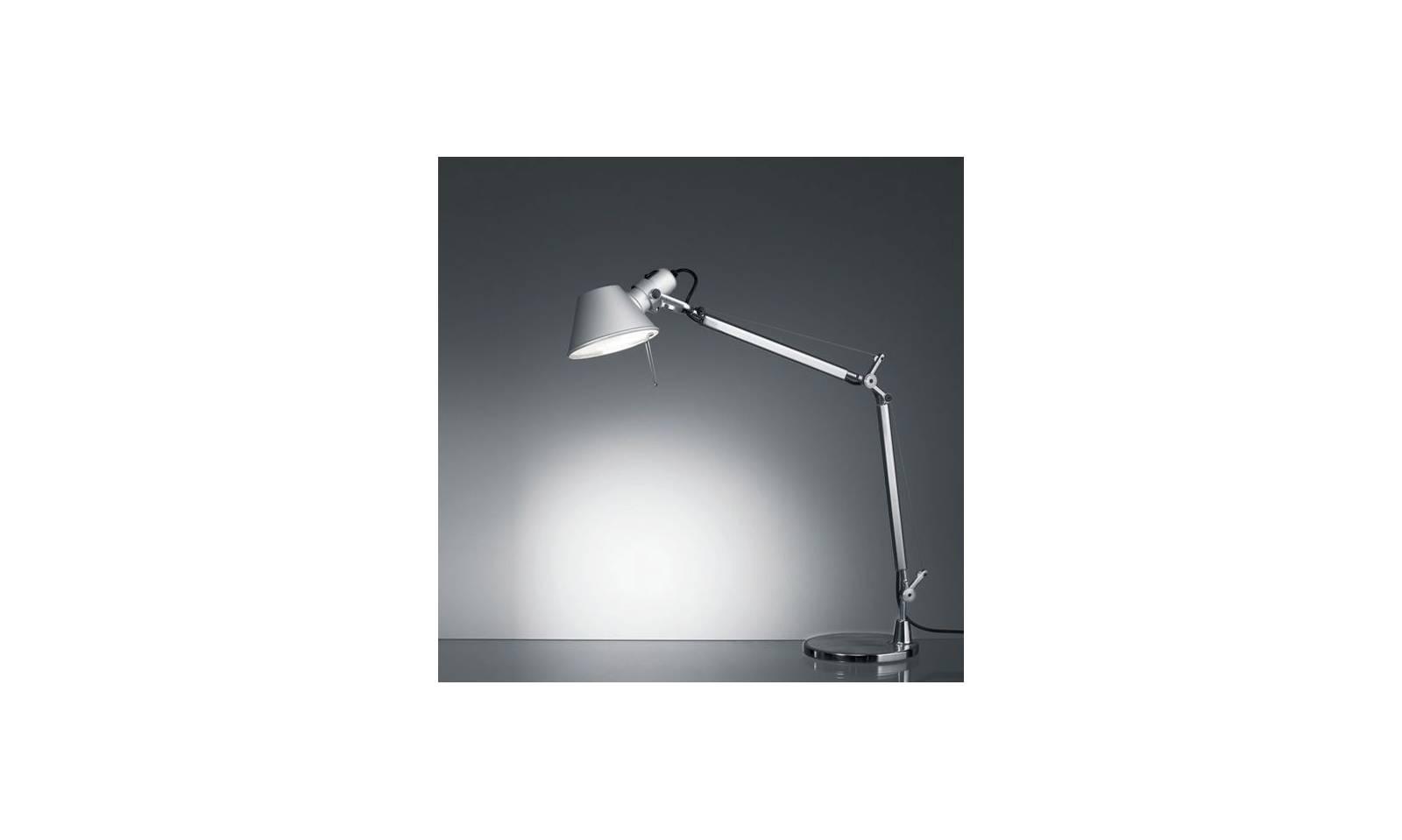Artemide lampada da tavolo led in alluminio serie tolomeo mini
