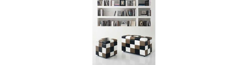 Container bench and pouf